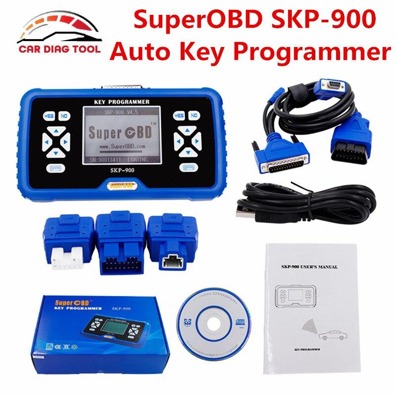 Prix pour 2017 Date V4.5 D'origine SuperOBD SKP-900 HAND-Held OBD2 Auto Key Programmeur SKP900 Aucun Jeton Limitée Mise À Jour En Ligne DHL livraison