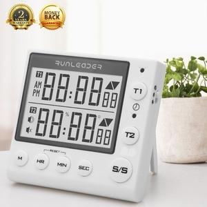 Image 2 - Küche Timer Digitale Countdown Timer 2 Kanal Blinkende LED für Labor Elektronische Küche Hausaufgaben Übung Gym Workout Kochen