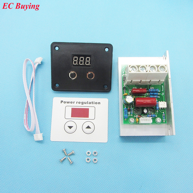 10000 W SCR importação Super Poder Regulador de Velocidade Dimmer Termostato Eletrônico Digital