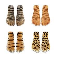 Модные кавайные хлопковые носки с объемным принтом милые короткие носки с когтями для детей, женские носки с забавными рисунками животных