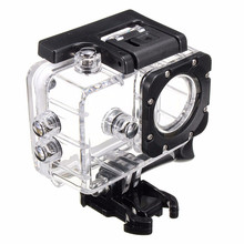 Camera accessories Waterproof Action Camera Case for Sjcam SJ4000 wifi SJ4000 SJ7000 EKEN H9 H9R 30M Waterproof Case Cover action camera sj 4000 accessories soft silicone protective case lens cover soft rubber shell for sjcam sj4000wifi sj4000