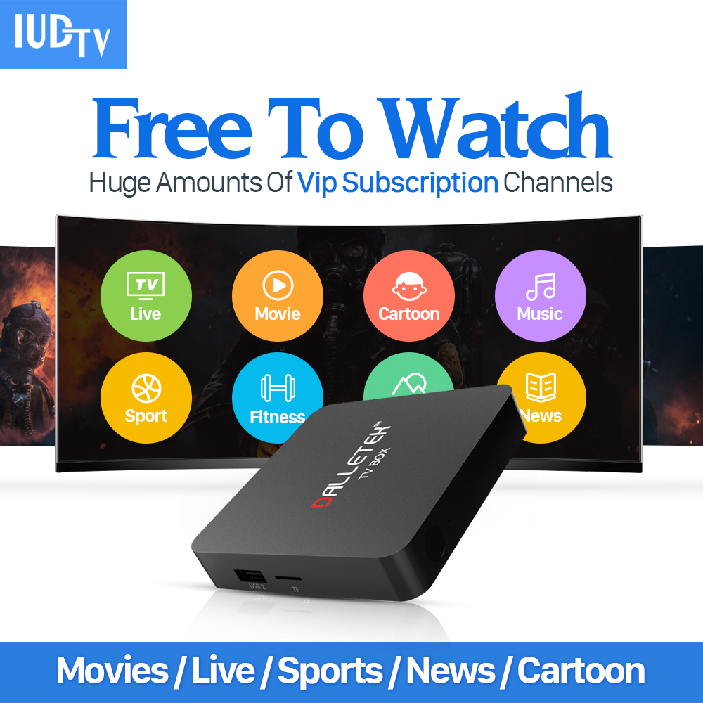 French Arabic IPTV Box Android 6.0 Smart TV Box with IUDTV Subscription 4K WIFI Media Player IPTV Account European Server gotit cs918 android 4 4 tv box with 1year arabic royal iptv europe africa latino american iptv rk3128 media player smart tv box