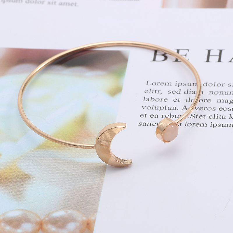 Fashion Simple Moon Sun Bracelet Creative Personality Gold Silver Sun And Moon Star Girl Bracelet Men And Women Metal Jewelry in Cuff Bracelets from Jewelry Accessories