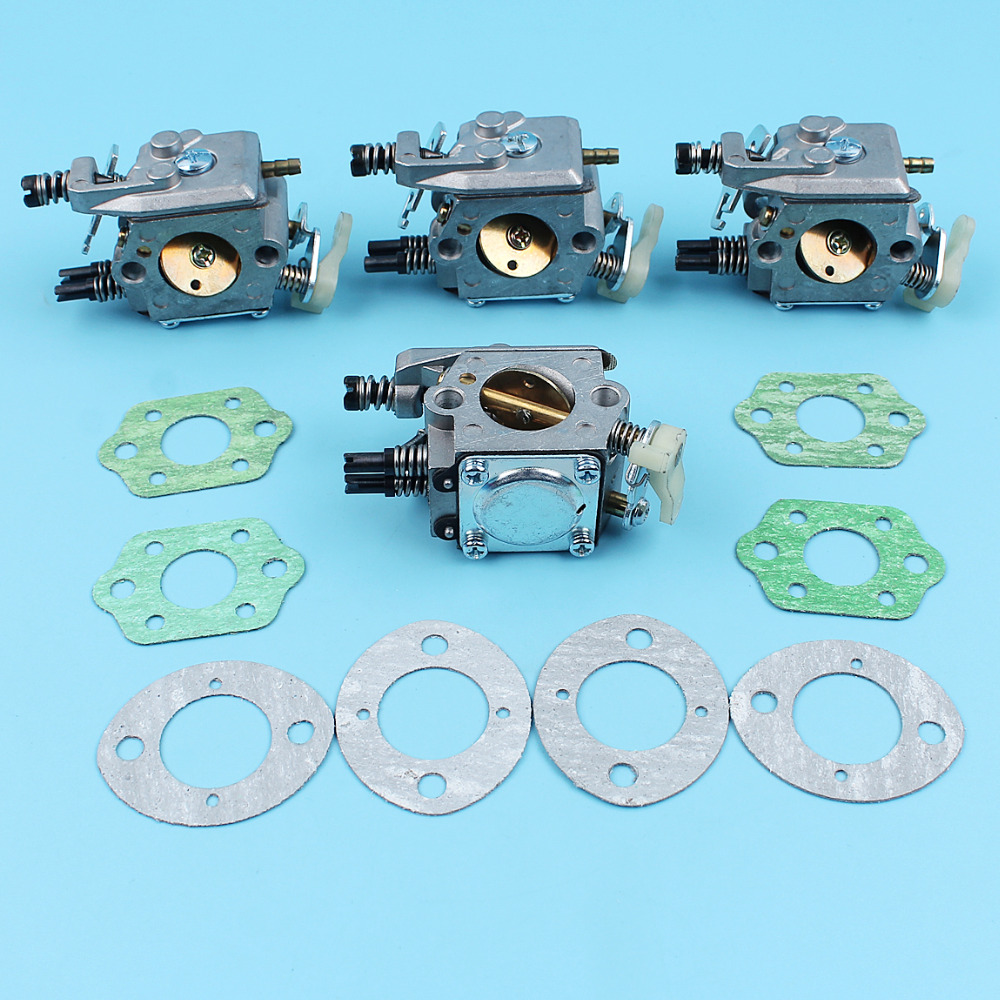 4pcs/lot Carburetor w/ Gaskets Kit For HUSQVARNA 51 55 Chainsaw Carb Walbro WT-170-1 #503281504 NEW Parts