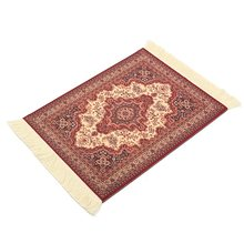 Kiwarm Cotton Persian Mini Woven Rug Mat Mousepad Retro Style Carpet Pattern Mouse Pad with Fring Home Office Table Decor Craft(China)