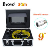 Eyoyo 30M 9 LCD 17mm Pipe Pipeline Drain Inspection Sewer Video Camera CCTV Cam CMOS 1000TVL
