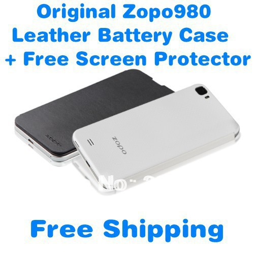 +Free Screen Protector Original ZP980 Leather Battery Cover Case ZOPO980 ZOPO C2  -  2016 Super Seller store