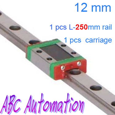 ФОТО Free shipping Miniature Linear Guide for 1pcs MR12 L-250mm linear rail + 1pcs MGN12C carriage for CNC X Y Z Axis