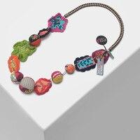 Amorita бутик красочный цветочный дизайн преувеличенные винтажные ожерелья