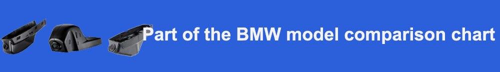Part of the BMW model comparison chart