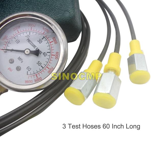 Hydraulic Pressure Test Kit, Hydraulic Test Gauge Kit For Excavator Parts v