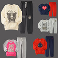 New boys clothes cotton children Set autumn boys clothes Swan boy character set boys kids jacket tracksuit pants+t shirts