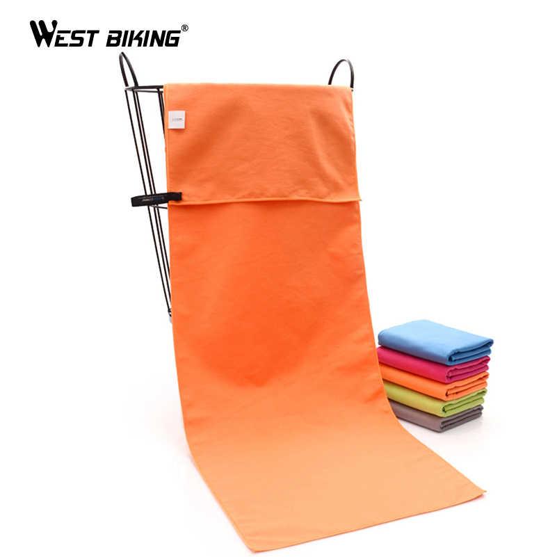 Zachód jazda na rowerze 30*100 cm szybkoschnący ręcznik kąpielowy Camping pływanie myjka z mikrofibry przenośny podróży na zewnątrz sportowe ręczniki