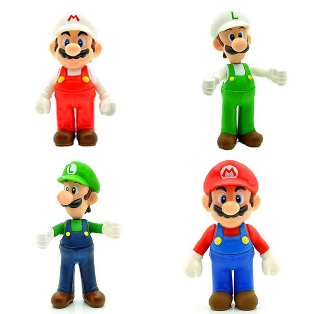 cd63ca505b Super Mario Bros Figure Toys Mario And Luigi PVC Action Figure Toy Game  Model Collection Free Shipping