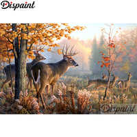 """Dispaint Full Square/Round Drill 5D DIY Diamond Painting """"Animal deer"""" Embroidery Cross Stitch 3D Home Decor A10458"""