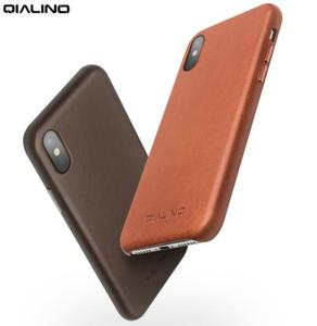 Image 5 - QIALINO אמיתי עור טלפון מקרה עבור אפל עבור iPhone X יוקרה עסקי סגנון Ultra דק חזרה כיסוי עבור iPhone XS עבור 5.8 אינץ