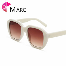MARC 2018 New Unique Pentagram Style Sunglasses Women men Square Vintage Black Leopard Plastic Sun Glasses Eyewear UV400