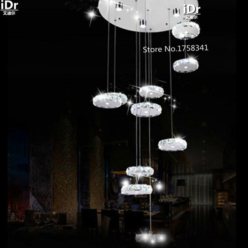 D600xH1600MM Modern living room lampadario di cristallo lampadario in acciaio inox oblungo LED lampadarioD600xH1600MM Modern living room lampadario di cristallo lampadario in acciaio inox oblungo LED lampadario