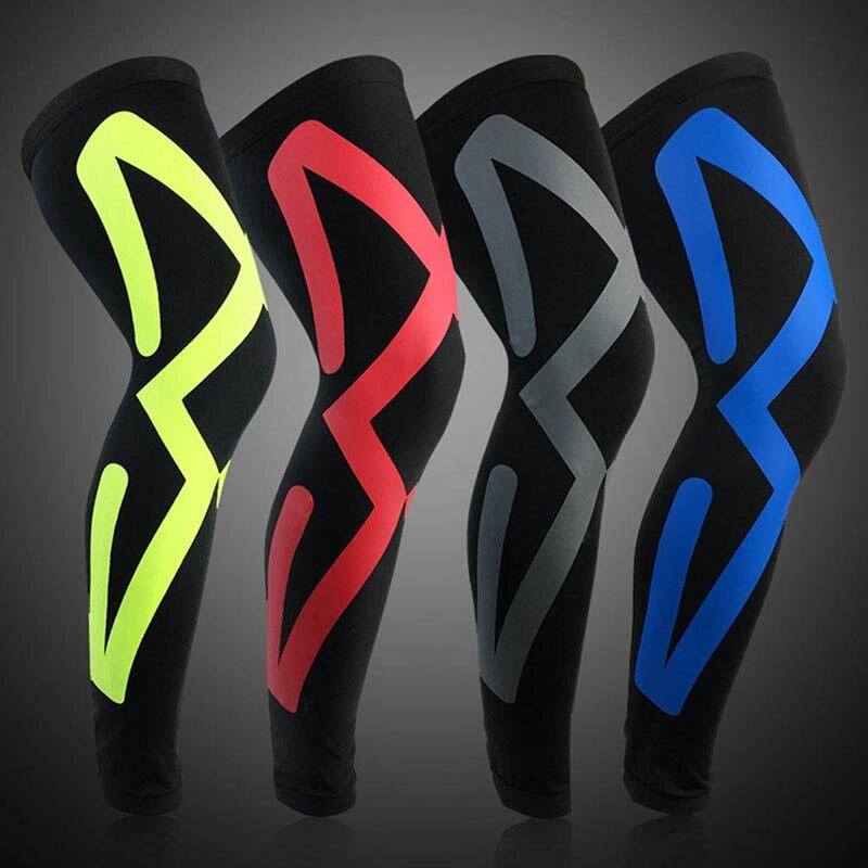 New Design Sports Antiskid Long Knee Support Brace Pad Protector Sport Basketball Leg Sleeve Sports Kneepad 5 Colors 2018 HOT