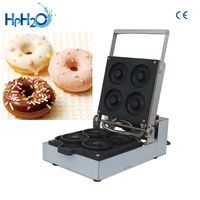 Commercial Non stick 4pcs Mirror stainless steel donut machine electric dough maker Doughnut Makers