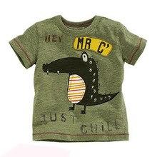 2017 Baby Boy T-shirts for Children Clothing Brand Summer Dinosaur Clothes Boys Short Sleeve Cotton Shirt Kids Tee Shirt Fille