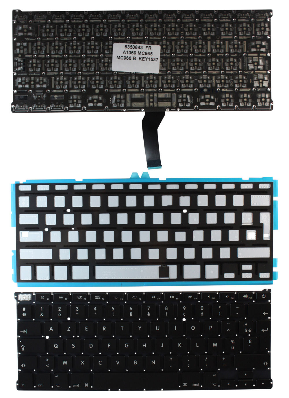 New notebook laptop keyboard for Apple Macbook Air 13 Inch A1369 backlit FR/French layout