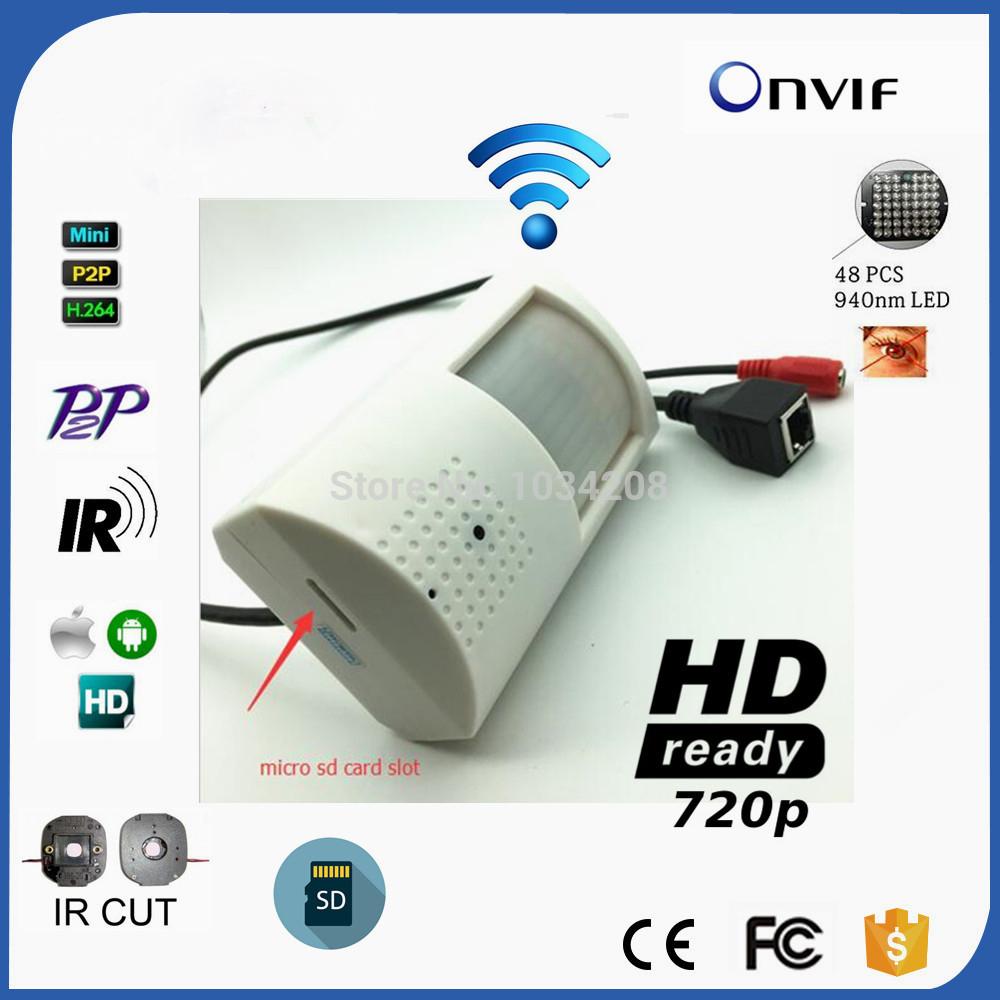 H.264 P2P ONVIF 720P Wifi Night Vision Mini IP Camera Security Camera Indoor CCTV With TF Card Slot&940nm Leds IR-CUT