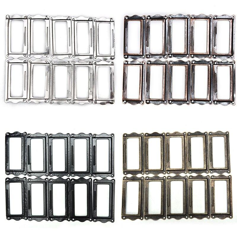 10Pcs Metal Label Pull Frame Handle File Name Card Holder For Furniture Drawer