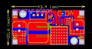 Image 2 - 100 teile/los TENSTAR ROBOTER XL6009 DC DC Booster modul netzteil modul ausgang ist einstellbar Super LM2577 schritt up modul