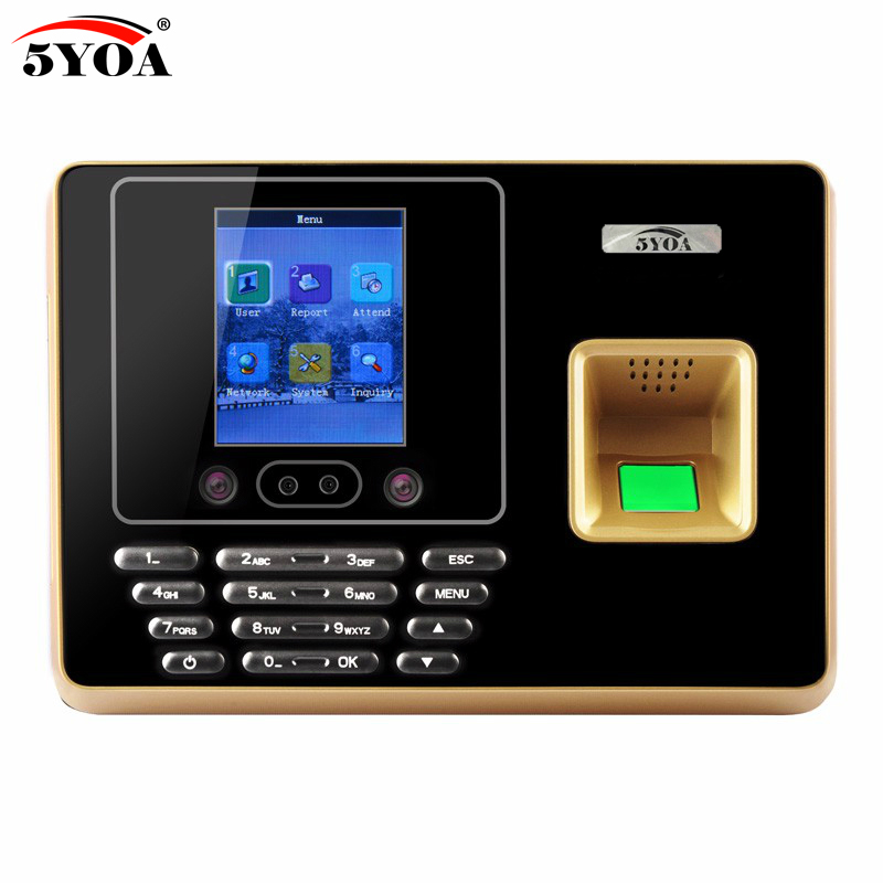 цена 5YOA AF30 Wifi Biometric Face Recognition Facial Employee Fingerprint Time Attendance Device TCP IP Time Clock Recorder Machine онлайн в 2017 году