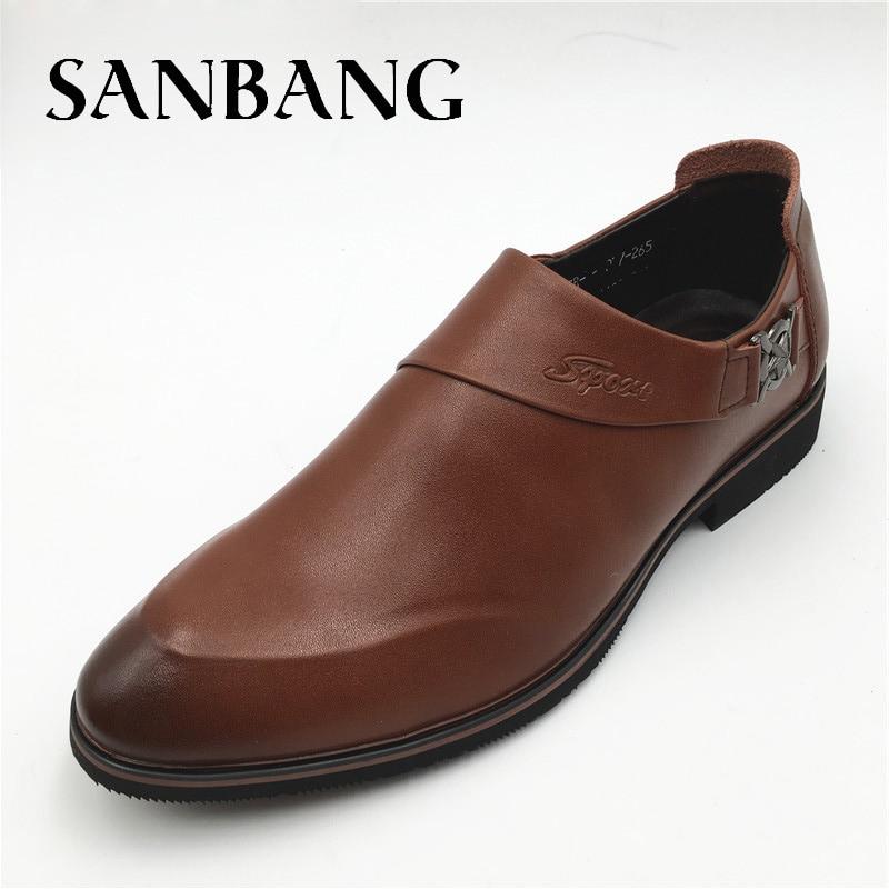 Обувь Для мужчин Черная обувь на выход Пояса из натуральной кожи с острым носком цвета металлик слипоны Мужская обувь в деловом стиле для Св...