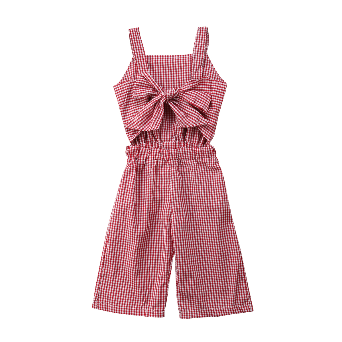 Newborn Kids Baby Girl Clothing Chest Strap Romper Sleeveless Bow Jumpsuit Sunsuit Clothes Outfits Girls 1-6T