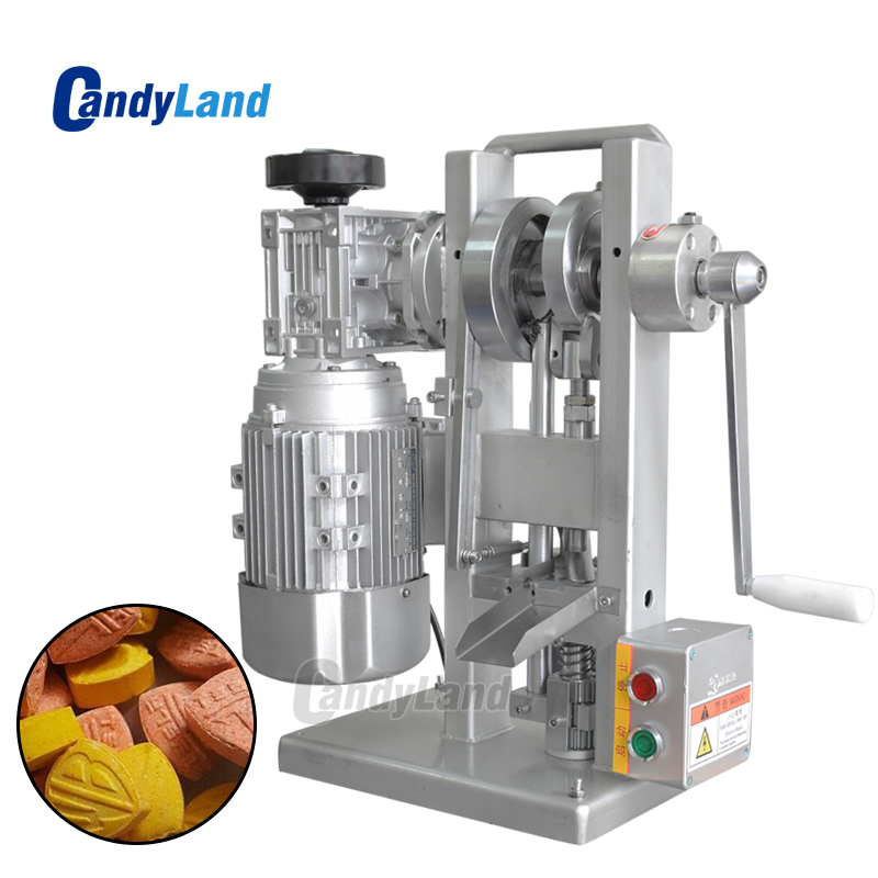 CandyLand THDP-3 Single Punch Sugar Tablet Press Die Machine Pressing Machine Motor Driven and Handle Candy Stamping MakerCandyLand THDP-3 Single Punch Sugar Tablet Press Die Machine Pressing Machine Motor Driven and Handle Candy Stamping Maker