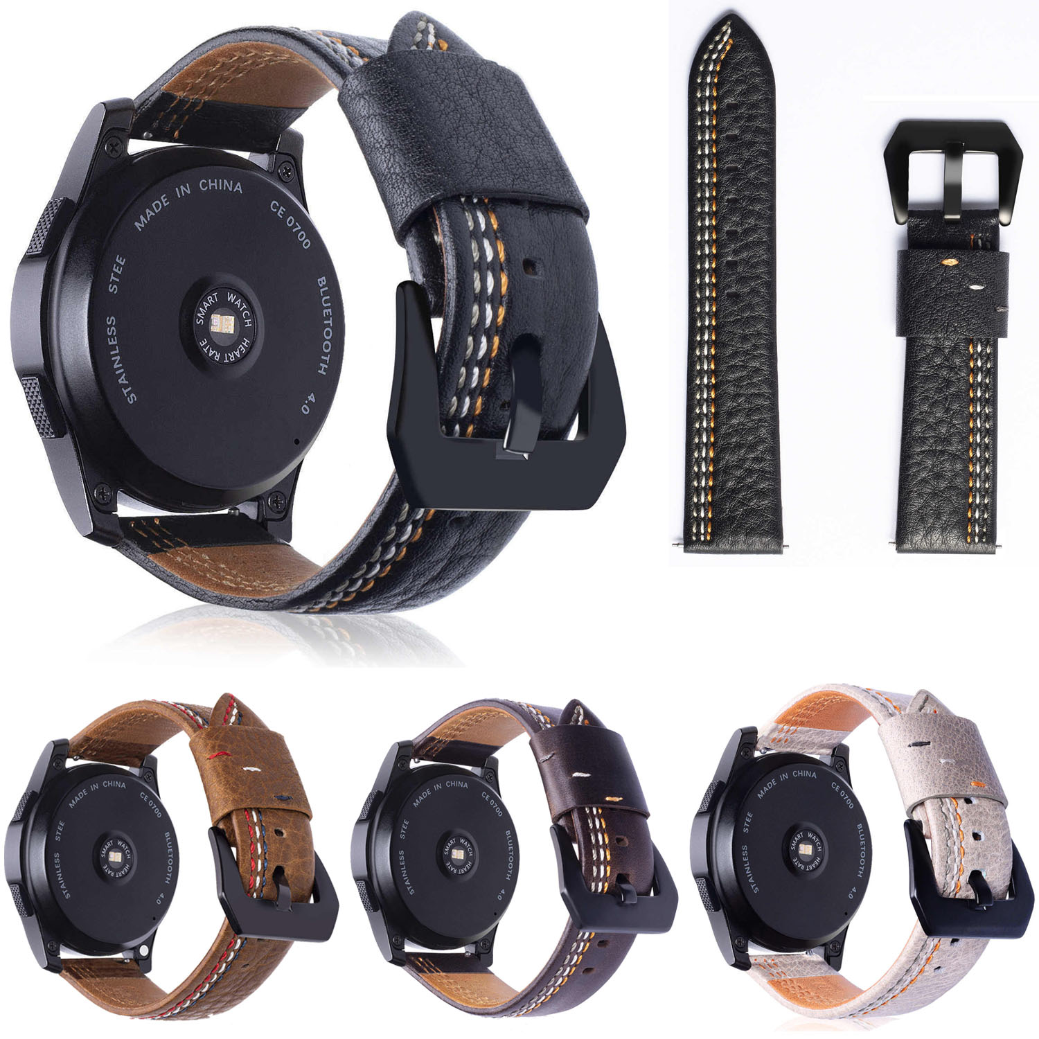 For Samsung Gear S3 Classic Genuine Leather Strap Replacement Buckle Strap Wrist Band for Samsung Gear S3 Frontier 22mm silicone sport watchband for gear s3 classic frontier 22mm strap for samsung galaxy watch 46mm band replacement strap bracelet