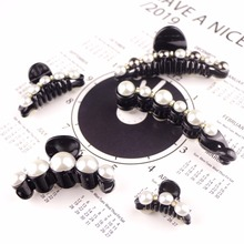 1PCS Elegant Crystal Pearl Crab Hair Claws Accessories 8 Styles Children Women Clip Fashion Headwear Hairpins