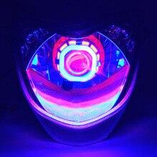 1 pz Moto LED Fari 12 v 2400lm Colorato lampada Moto Fendinebbia Luminoso Impermeabile Moto Ausiliario Faro