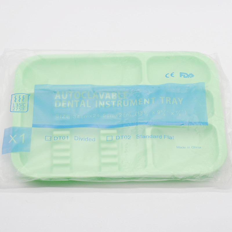 1 шт. стоматологическая клиника пункт разделенный отдельный тип лоток пластиковый инструмент Автоклавный - Цвет: 1Pcs Green