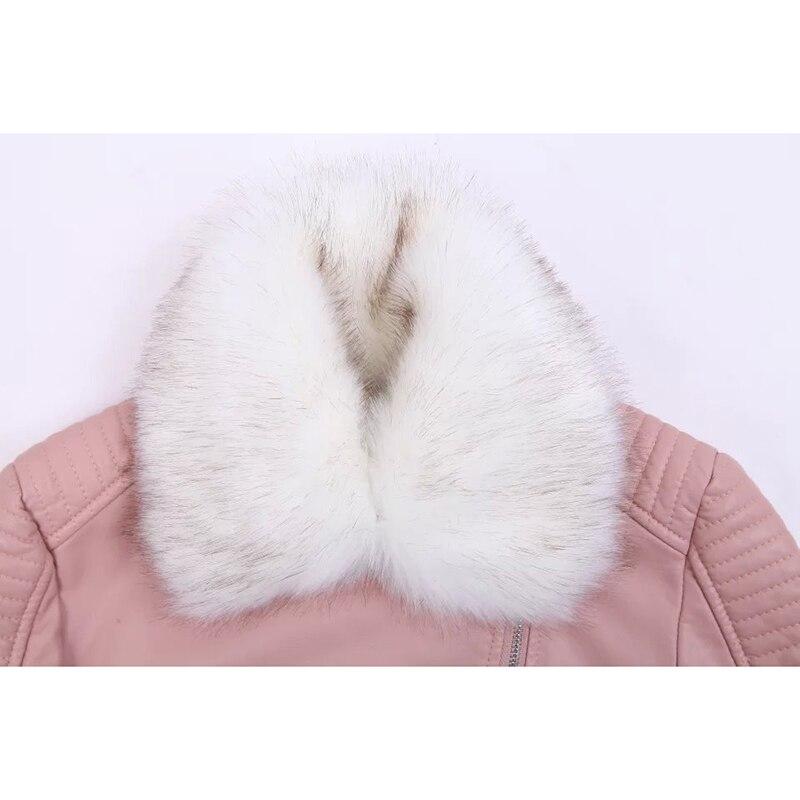 Fourrure Col En pink Boutique Slim Hiver Courte beige Section Pu Automne Cachemire Plus Rose Nouvelle Coa Épaissir Black De Cuir Manteau Noir Veste YUqwafY