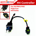 DIY H4 cable adapter line wire 35W/55W 12V 1 for 1 H4  cable adpater socket hid H4 high low hid lamps control cable male socket