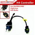 DIY H4 de línea adaptador de cable de alambre 35 W/55 W 12 V 1 1 H4 cable adpater socket hid H4 alta baja hid lámparas de control cable macho socket
