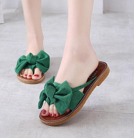 new Flat outdoor slippers Sandals foot ring straps beaded Roman sandals fashion low slope with women's shoes low heel shoes  x69 12