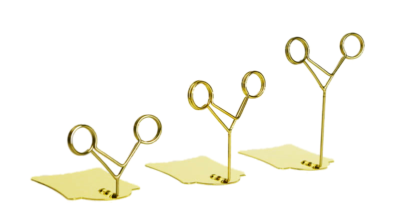20 pcs Hardware POP metal label holder clip desk sign tag price display office name card holder memo picture photo stand gold