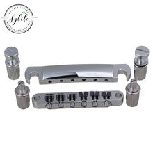 Chrome Tune-o-matic Bridge Tailpiece Set Accessory For Electric Guitar(China)