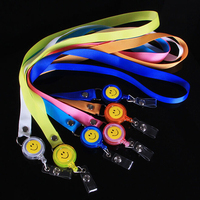 Free Shipping 10pcs Lot Retractable Lanyard Reel Nylon Cord For ID Card Key Badge Holder Mixed