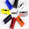 Nova smoant battlestar caixa vape mod vv/vw 200 w apoio nickel200/titanium/aço inoxidável/tcr tela oled e vaporizador de cigarro