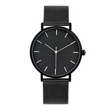 2017 Enmex estilo fresco hombres reloj Breve moda elegante simple blanco y Negro cara de acero inoxidable reloj de cuarzo reloj de moda