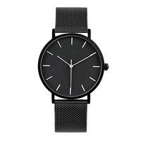 2017 Enmex style cool hommes montre-bracelet Brève vogue simple élégant Noir et blanc visage en acier inoxydable horloge à quartz montre de mode