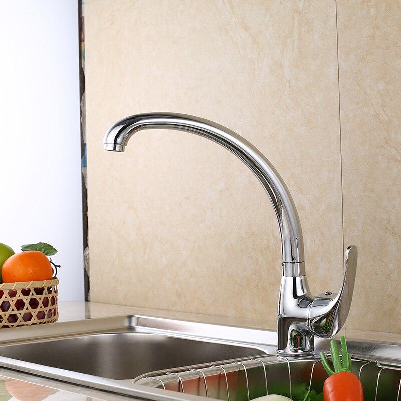 SHAI Küche Wasserhahn 360 Grad Swivel Solide Zink-legierung Küche Mixer Cold und Heißer Küche Tap Einzel Loch Wasserhahn