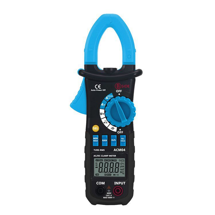 ACM04 Multimetro 6600 Counts 600A AC DC True RMS Digital Automatic Range Current Clamp Meter Capacitance Frequency Inrush Test aimometer ms2108 true rms ac dc current clamp meter 6600 counts 600a 600v