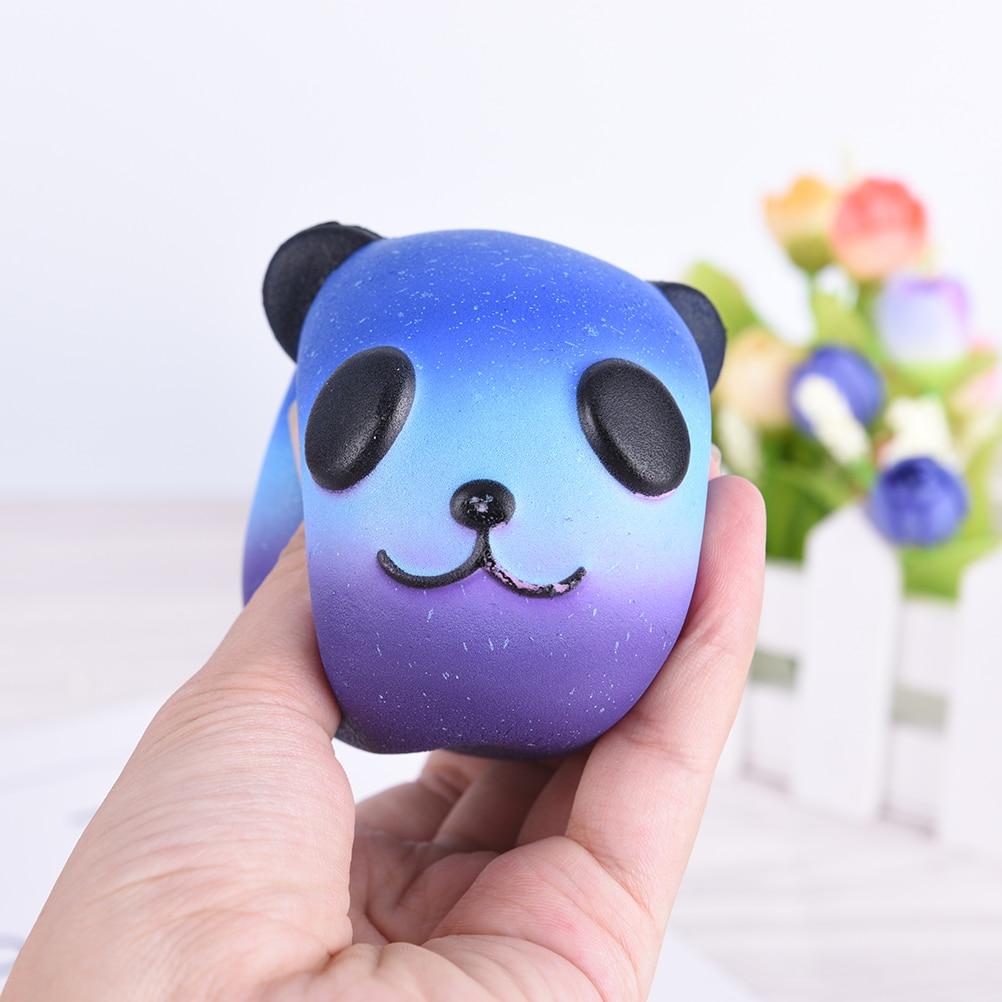 Mobile Phone Straps Fun Kid Toy Xmas Cartoon Cake Bun Jumbo 10cm Cute Emoji Colorful Face Panda Squishy Bread Slow Rising Excellent Quality